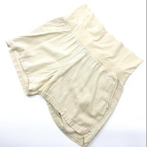 Great Expectations Maternity Linen Blend Shorts
